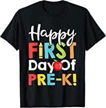 Happy First Day of School Shirt Happy First Day of Pre-K Tee