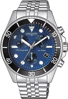 Vagary By Citizen orologio cronografo uomo con ghiera nera, quadrante blu.