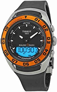 Tissot T056.420.27.051.02 Mens Quartz Watch, Analog Display and Rubber Strap, Black