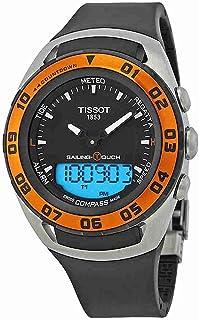 ساعة تيسوت T056.420.27.051.02 للرجال كواترز انالوج بسوار مطاطي، اسود