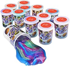 Kicko Marbled Unicorn Color Slime - 12 Pack Colorful Galaxy Sludge - Gooey Fidget Set for Sensory and Tactile Stimulation, Stress Relief, Party Favor, Educational Game