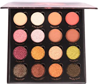 Allwon Magnetic Eyeshadow Palette con 16 colores Shimmer Matte Eyeshadows High Pigmented Warm Natural Smokey Eye Shadows