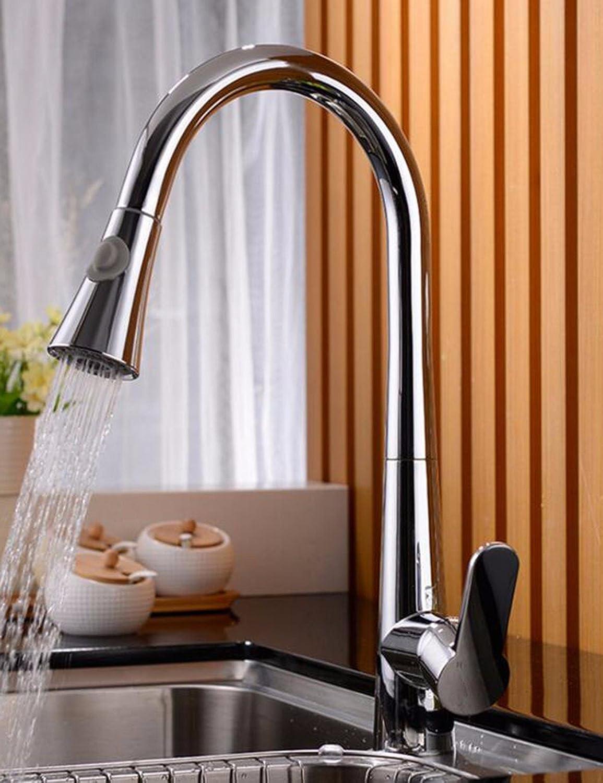 Gyps Faucet Waschtisch-Einhebelmischer Waschtischarmatur BadarmaturKüche Wasserhahn voll Kupfer Warmes und Kaltes Gericht Waschbecken Pull-down Wasserhahn Wasserhahn schwenken
