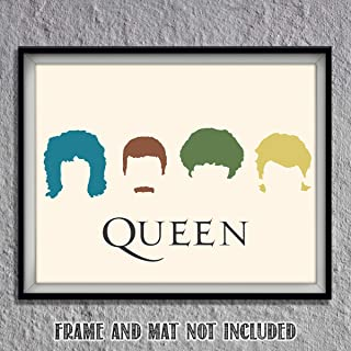 Queen Band- Silhouette Poster Print- 10 x 8