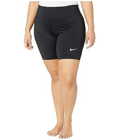 Nike Fast Shorts 7 (Size 1X-3X) (Black/Reflective Silver) Women
