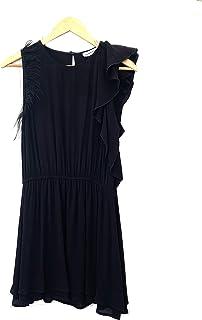 Silvian Heach PGP21618 Dress MALDENIN - Abito Corto Donna Viscosa con Elastico in Vita Piume su Spalla Destra e Volant sul...