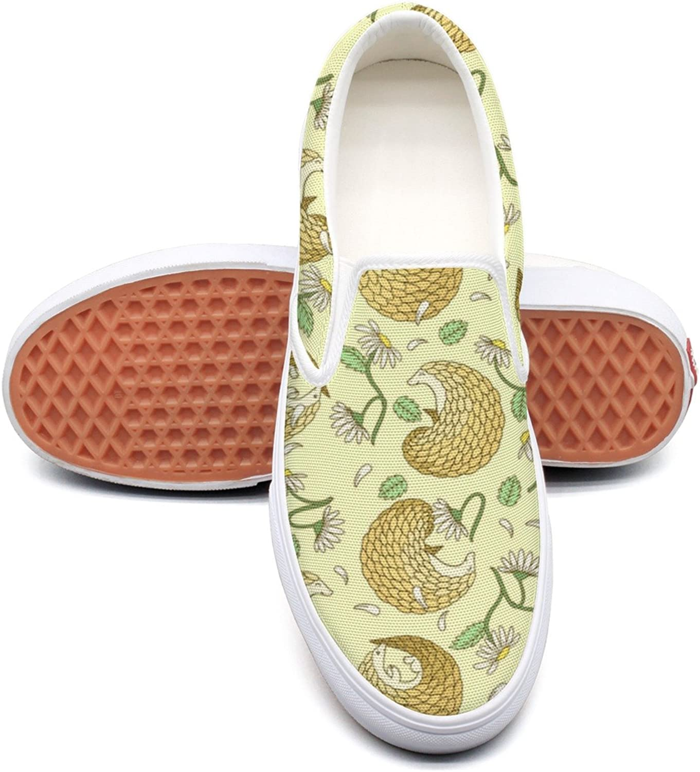 SEERTED Pangolins and Daisies Sneaker Women Wide