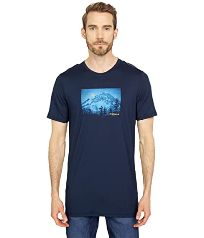 Smartwool Merino Sport 150 Mount Hood Moon Graphic Tee (Deep Navy) Men