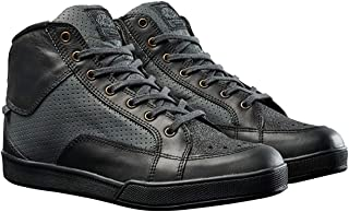 Roland Sands Design Fresno Perforated Men's Street Motorcycle Shoes - Black Charcoal / 10.5