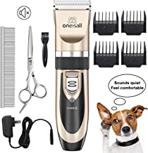 oneisall Dog Shaver Clippers Low Noise Rechargeable Cordless Electric Quiet Hair Clippers..