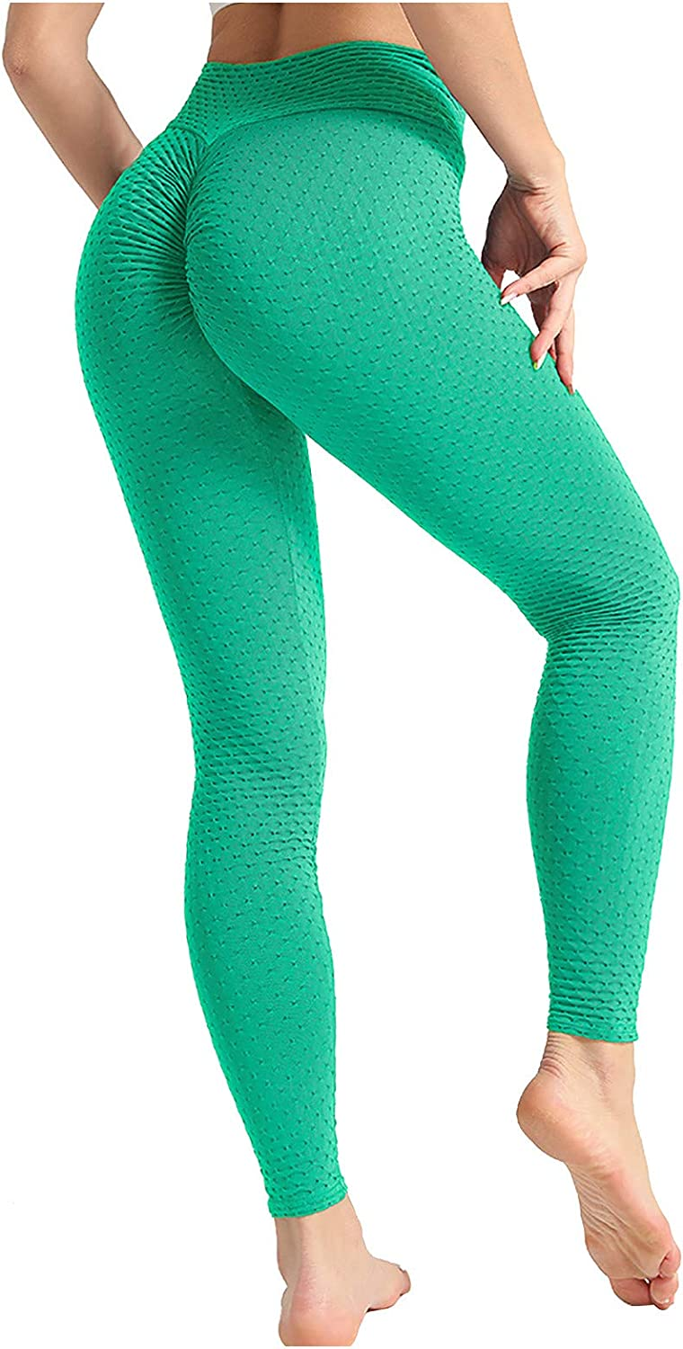 Hotkey Yoga Pants for Women, Hip Stretch Fitness Tights Pure Color Workout Yoga Leggings Slim Running Exercise Pants