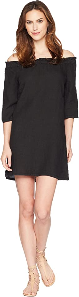 Allen Allen - Ruffle Edge Linen Dress