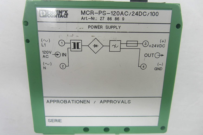 Nippon regular agency Phoenix Contact MCR-PS-120AC 24DC 100 MCRPS120AC24D Sales results No. 1 Power Supply