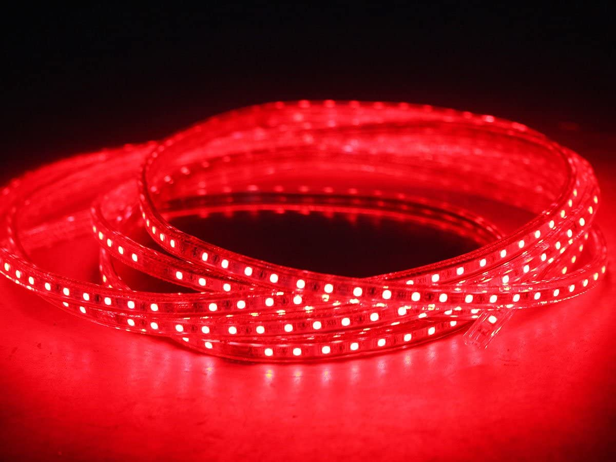 3-50m Ogeled 230V RGB LED 60 leds Strip Streife leiste ip65 mit Kontroller Dimmer FB (18M) 15m