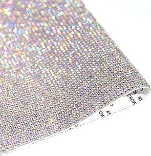 9.4in X 15.7in Bling Crystal Rhinestone DIY Decoration Sticker,Self Adhesive Crystal Sheet with 2mm Rhinestones(AB Crystal)