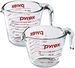 Pyrex Prepware 2-Piece Glass Measuring Set, 1 and 2-Cup, 2 Pack, Clear