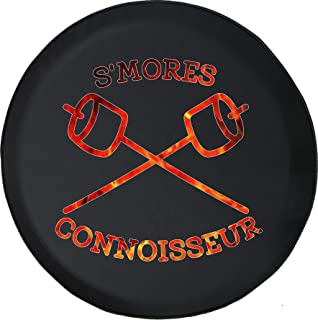 Spare Tire Cover Smores Connoisseur Camping RV Vacation Campfire fits SUV or RV Accessories Camper Size 33 Inch