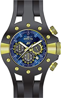 Invicta Men's S1 Rally Stainless Steel Quartz Watch with Silicone Strap, Black, 26 (Model: 28568)