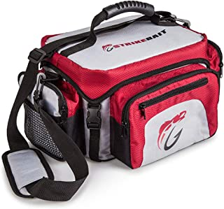 STRIKEBAIT Fishing Tackle Bag - Lightweight and Easier to Carry Than Boxes - Keeps Your Gear Organized, Safe and Dry - Waterproof Bags Incl 4 Tackle Boxes and a Boatload of Pockets and Storage Space