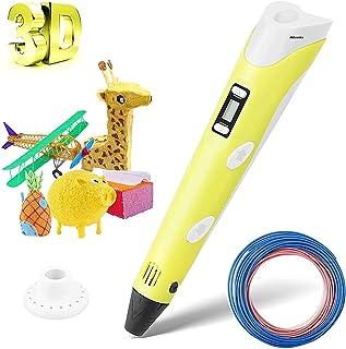 Inayat® 3D Drawing Pen, Intelligent 3D Pen with PLA Filaments LED Display 3D Printing Pen Creative DIY &Temperature Contro...