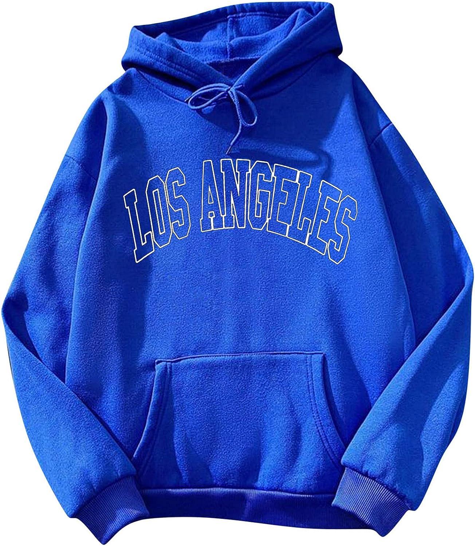 Womens Long Sleeve Vintage Print Pullovers Hoodie Hooded Sweatshirt Tops Blouses with Pockets Fall Winter Tops