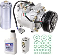 AC Compressor w/A/C Repair Kit For Honda Civic 1.7L 2002 2003 2004 2005 w/ 3-Wire Electrical Connector - BuyAutoParts 60-80229RK New