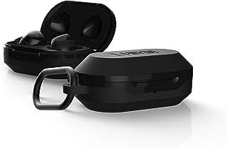 Urban Armor Gear Hardcase für Samsung Galaxy Buds (2019) & Buds+ Plus (2020)   Robuste Hülle (Wireless Charging kompatibel, Sturzfest nach Militärstandard MIL STD 8105G, Karabinerhaken) schwarz