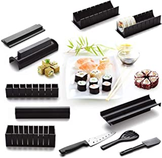 Sushi Making Kit - Original Sushi Maker Deluxe Exclusive Online Video Tutorials Complete with Sushi Knife 11 Piece DIY Sushi Set - Easy and Fun - Sushi Rolls - Maki Rolls