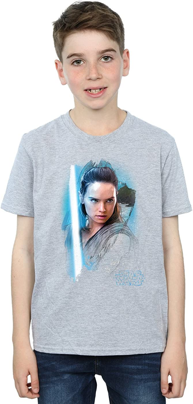 STAR WARS Boys The Last Jedi Rey Brushed T-Shirt 12-13 Years Sport Grey