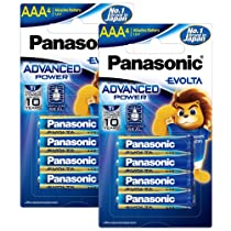 Panasonic EVOLTA Alkaline AAA Battery, Pack of 8
