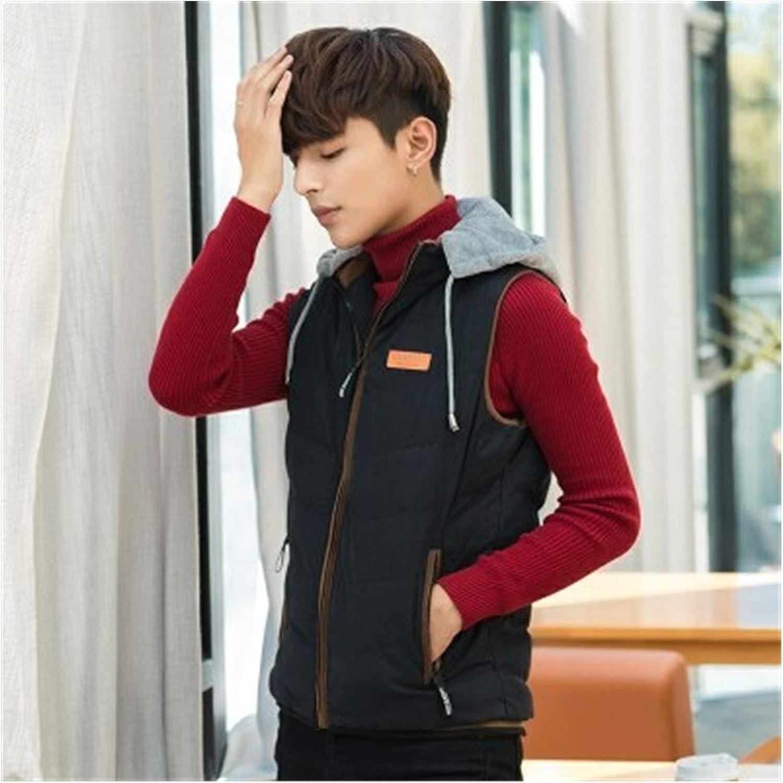 LYLY Vest Women Sleeveless Jacket Vest Jacket Mens Autumn Warm Sleeveless Jacket Hooded Winter Casual Waistcoat Men Vest Plus Coats Vest Warm (Color : Black, Size : XXS)