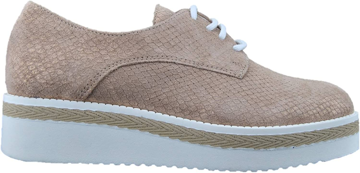 MERCANTE DI FIORI Women's Sneakers with Low-Necked lace-up Sneakers Pink Powder Made in