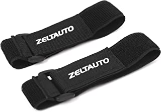 Zeltauto Elastic Hook and Loop Cable Tie Fastening Cable Strap Adjustable Magic Securing Cord Organizer (Black, 16 In, 2 Pcs)