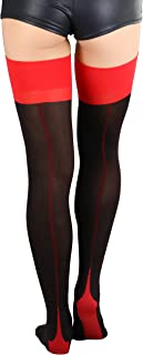 Nylon Lycra Two Toned Cuban Heel Closed Toes Stockings
