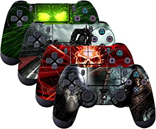 SubClap 4 Packs PS4 Controller Skin, Vinyl Decal Sticker Cover for Sony PlayStation 4 DualShock 4 Wireless Controller (Death)