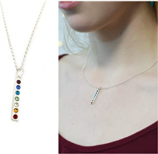 Sterling Silver Chakra Charm Necklace