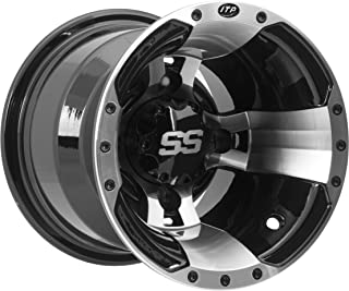 ITP SS ALLOY SS112 Black Wheel with Machined Finish (14x6