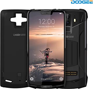 """DOOGEE S90 4G Modular Rugged Smartphone Unlocked Android 8.1-10050mAh Battery (Included Power Module) 6.18""""FHD+ 6GB RAM+128GB ROM 8MP+16MP Camera - Waterproof Unlocked Cell Phone Outdoor - Black"""