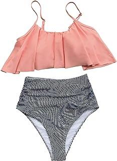 Women's Falbala Design Bikini Set