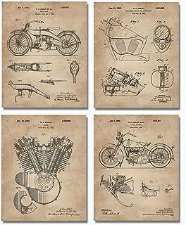 Harley Davidson Patent Art Prints (8