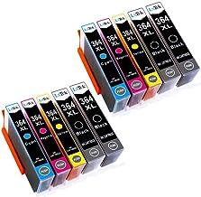 LxTek 364XL Compatible para HP 364 Cartuchos de Tinta para HP Photosmart 5510 5520 5524 6510 6520 7510 7520 B010a HP Officejet 4620 4622 HP Deskjet 3070A 3520 (4 Negro 2 Cian 2 Magenta 2 Amarillo)