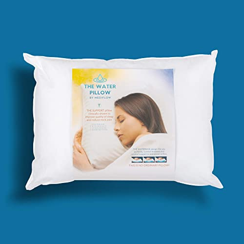 Mediflow 1001 First & Original Water Pillow, clinically Proven to Reduce Neck Pain. Therapeutic, Ideal for Those who ...