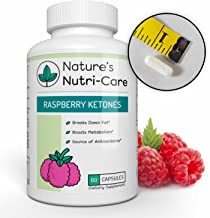 Nature's Nutri-Care Raspberry Ketones Weight Loss - 500 mg - 60 Capsules - with African Mango, Green Tea Extract, and Apple Cider Vinegar - Metabolism Booster Supplement - Made in USA