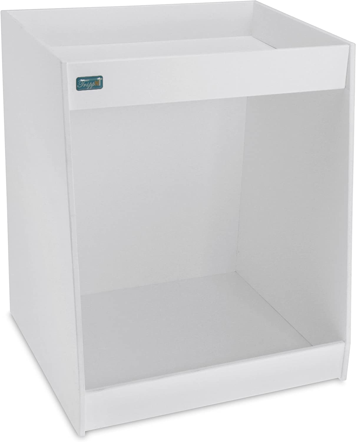TrippNT 50118 PVC Angled Double Safety Shelves, 12-Inch Width x 14-Inch Height x 9-Inch Depth, White