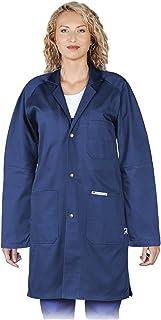 Ma.Rouge Unisex Damen Herren Doktor Kittel Arbeitsbekleidung Artzkittel Laborkittel Mantel Wei/ß Modern Slim Fit leicht k/örper betont S-6XL