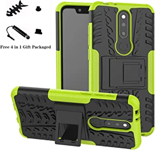 Nokia 5.1 Plus case,LiuShan Shockproof Heavy Duty Combo Hybrid Rugged Dual Layer Grip with Kickstand for Nokia 5.1 Plus / X5 (5.86