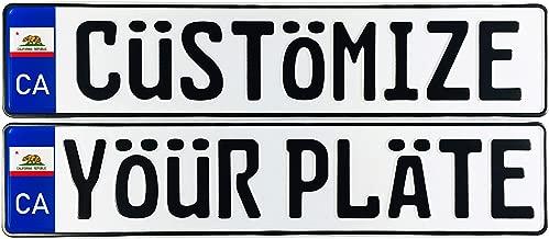 Custom European Style US State License Plate