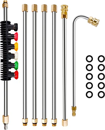 high quality Twinkle Star Pressure Washer Extension Wand online sale Set, 8.5 ft Replacement Lance with 6 Nozzle Tips, wholesale 4000PSI outlet sale