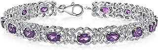 Amethyst Bracelet Sterling Silver 6.00 Carats Vintage Design