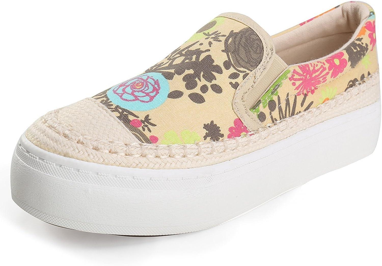 Davikey Women's Floral Print Sneaker